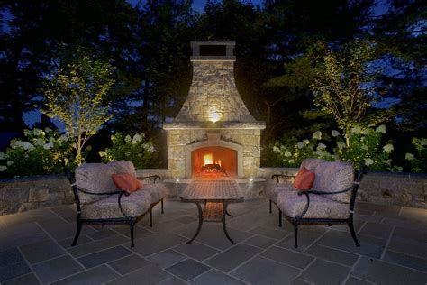 Out Door Patio Bluestone Patio And Outdoor Fireplace Nj Rusk Enterprises Llc