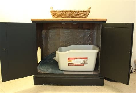 litter box a furniture to hide those litter boxes makes