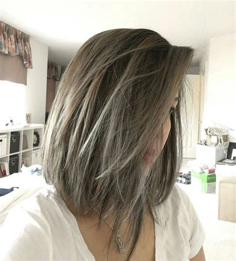 balayage cover gray hair the 25 best short gray hairstyles ideas on pinterest