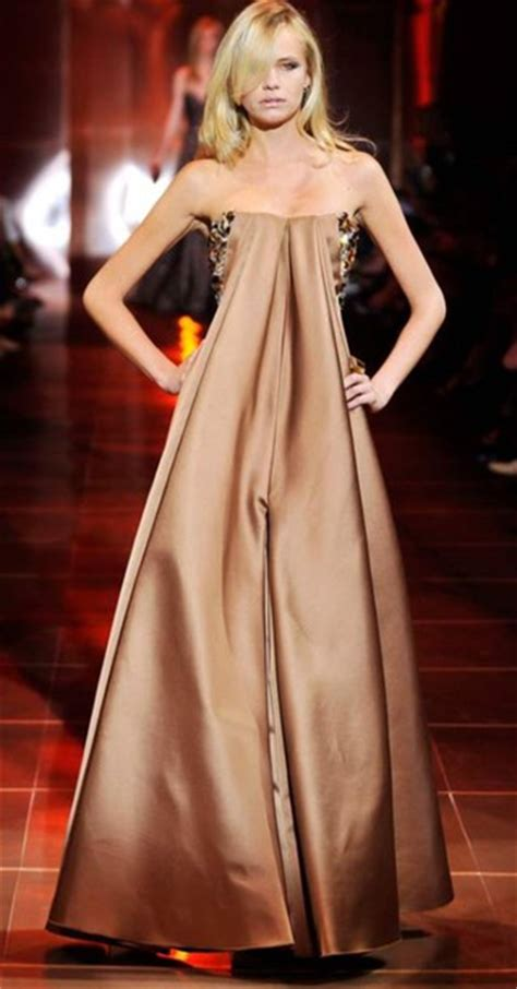 Catwalk To Carpet In Giorgio Armani by Dress Armani Gown Brown Gold Shimmer Lond Maxi