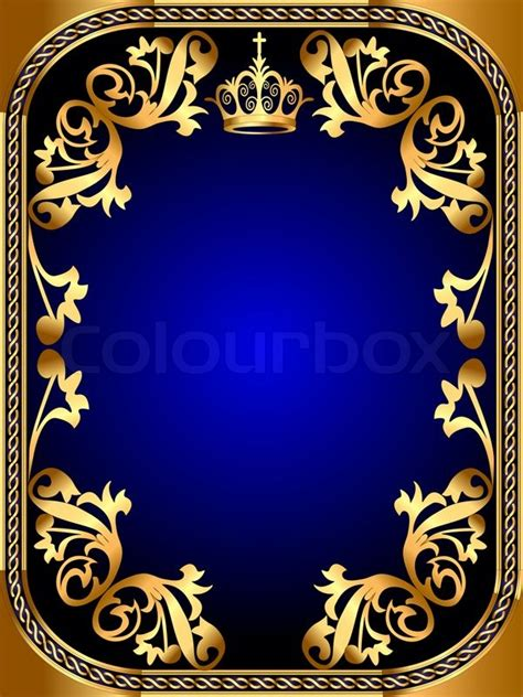 navy blue background decorated the golden royal border royalty free royal blue and gold wallpaper wallpapersafari