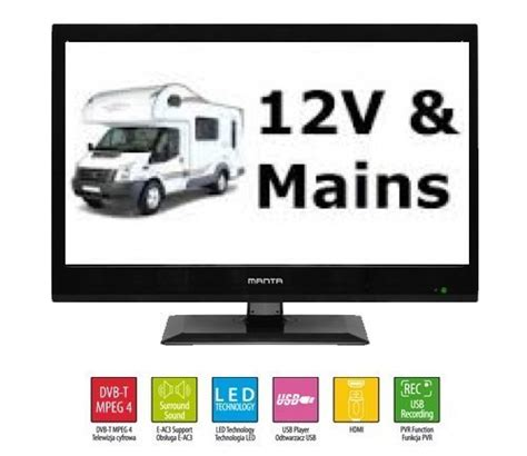 Tv Aoyama Led 15 Inch Usb Hdmi Vga Promo manta 15 6 quot inch led 12v tv with digital freeview usb