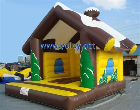 yolloy cabin jumping bouncy house for