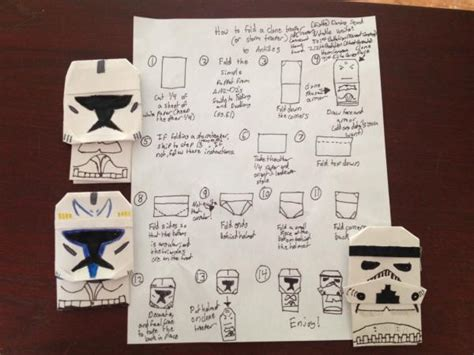 How To Make A Paper Stormtrooper Helmet - search results origami yoda page 55