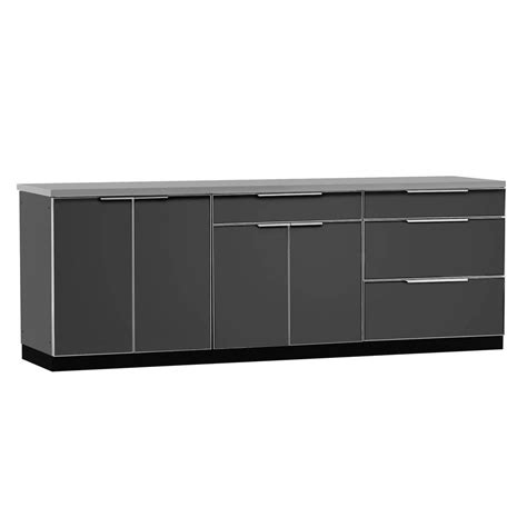 newage cabinets newage products aluminum slate 4 piece 97x36x24 in