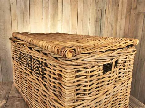 rattan laundry with lid rattan laundry basket with lid dividers