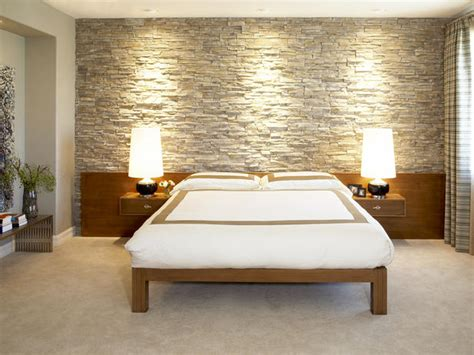stone wall in bedroom modern bedroom photos hgtv