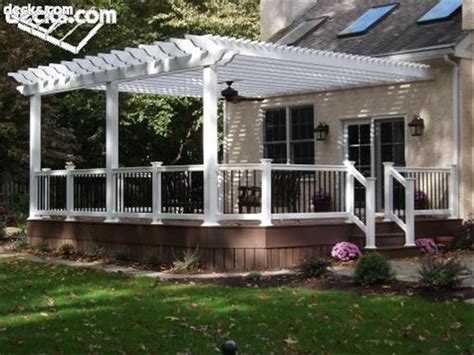 Attached pergola designs woodworking projects amp plans