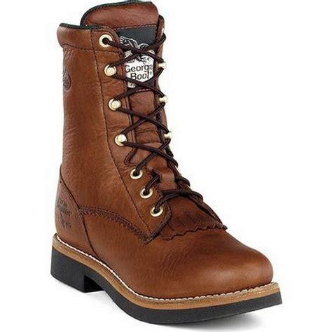 boots farm and ranch mens barracuda walnut leather farm ranch lacer