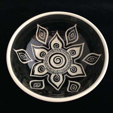 bowl designs sgraffito carved mandala bowl by paula focazio art