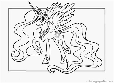 My Little Pony Princess Celestia Coloring Pages For Kids My Pony Coloring Pages Princess Free Coloring Sheets