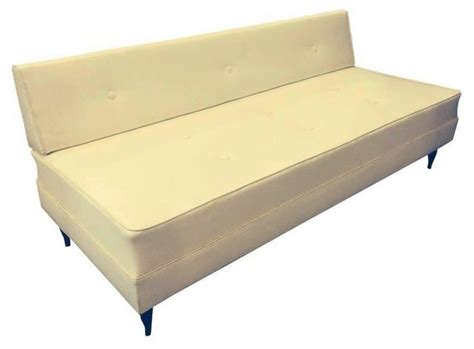 Contemporary Daybeds | pre owned mid century modern white sofa daybed