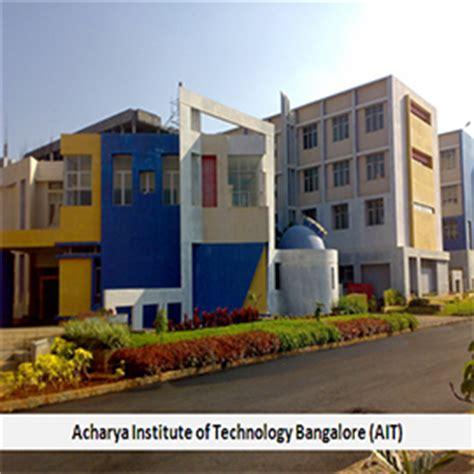 Acharya Bangalore Mba by Acharya Institute Of Technology Bangalore Ait Mba