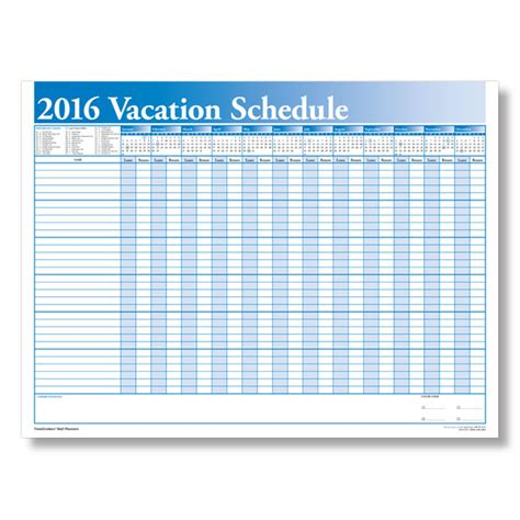 2016 vacation calendar for employees calendar template 2016