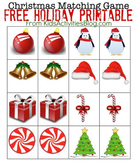 printable christmas memory games printable christmas games for kids printable christmas