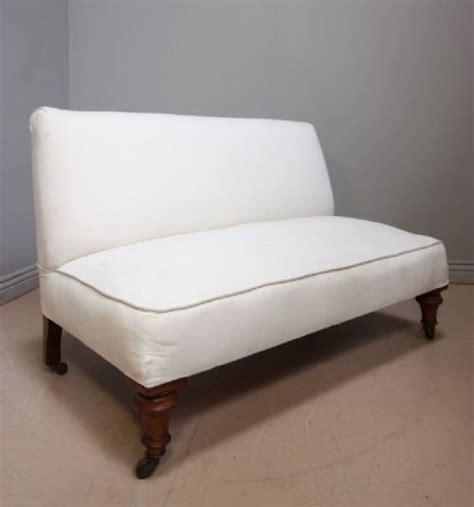antique armless banquette sofa seat 118031