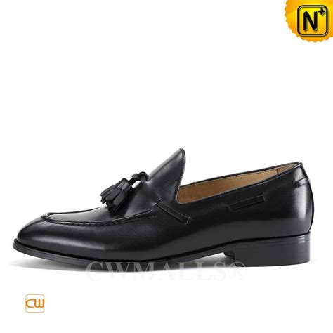 mens black loafers with tassels black leather tassel loafers cw707085