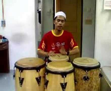 tutorial bermain darbuka teknik bermain conga darul furqan doovi