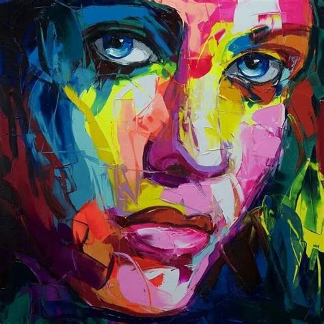 colorful portraits 17 best images about francoise nielly artistic faces on
