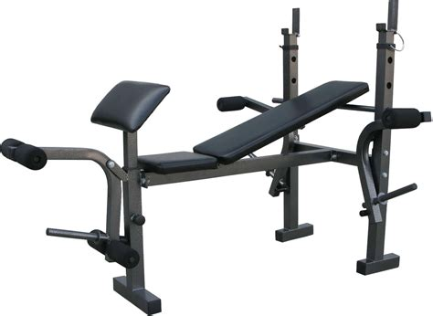 used weight bench and weights exercise fitness weight bench