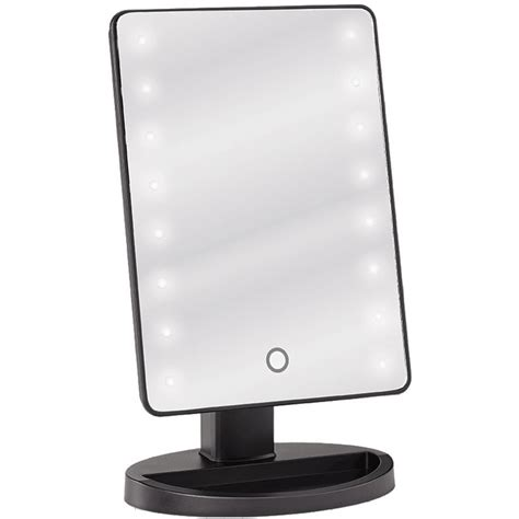 Led Popular Convenient Touch Table L Aa Sj001 led lighted table top cosmetic mirror black pack of 4 513558 x 4