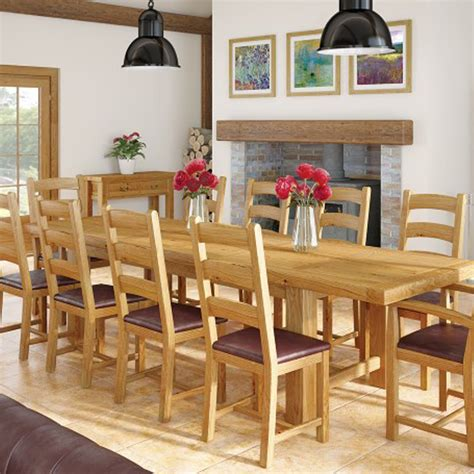 Vancouver Oak Dining Table Black Friday Oak And Pine Furniture Sale Owen Farm