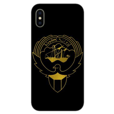 kuwait mobile buy kuwait logo gold on black background mobile cover