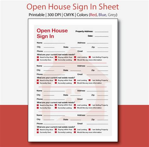 real estate open house sign in sheet printable real estate open house sign in sheet open house sign in open