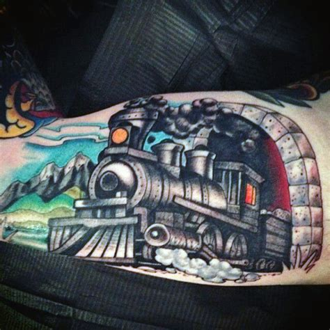 steam train tattoo designs 70 tattoos for masculine railroad designs