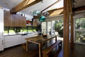 rustic home designs kitchen contemporary with back door