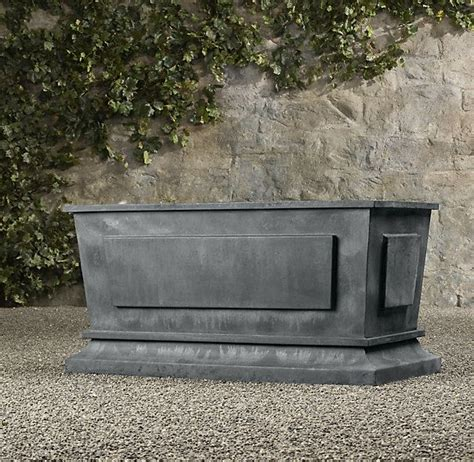 estate zinc paneled trough planter containers pinterest