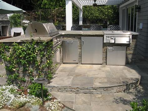 outdoor wet bar pacific palisades backyard landscaping network