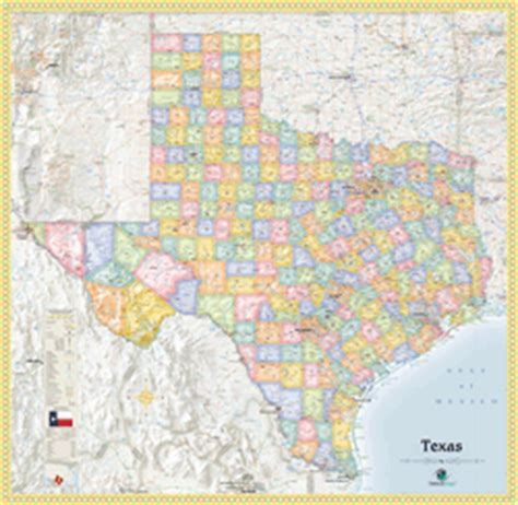 political texas map texas political wall map by outlook maps