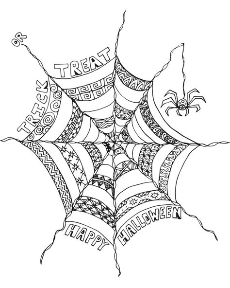 spider web coloring page free 17 best images about printable coloring pages on pinterest