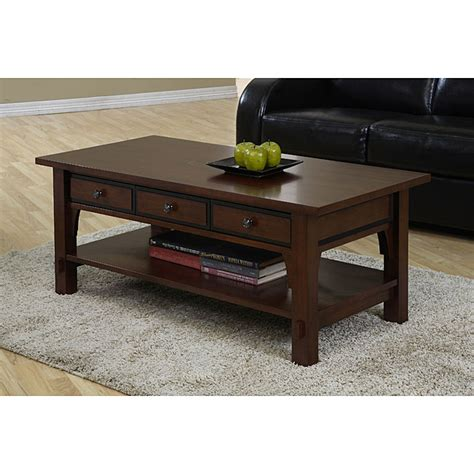 Coffee Tables Overstock Talisman 3 Drawer Coffee Table Overstock Shopping Great Deals On Coffee Sofa End Tables
