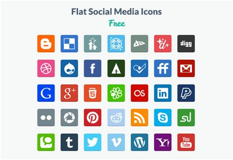 Best Resume Github by 20 Beautiful Free Flat Social Media Icons Sets 2017 Colorlib