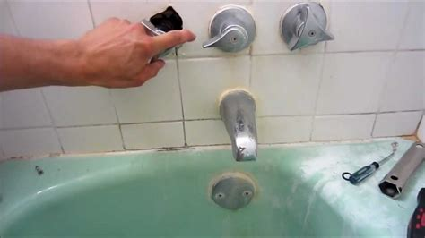 how to change faucet in bathtub repair leaky shower faucet youtube
