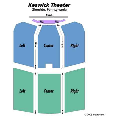 keswick theatre seating map ralphie may march 22 tickets glenside keswick theatre