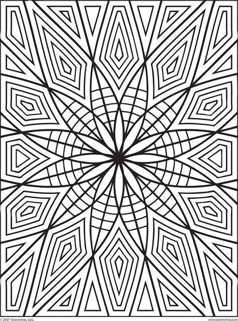 coloring pages of geometric patterns geometric design coloring pages geometric coloring pages