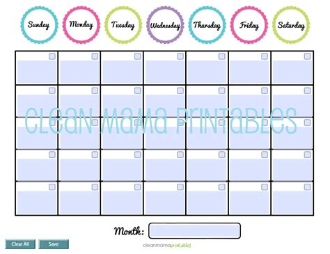 free fillable calendar template fillable monthly calendar printable calendar template 2018