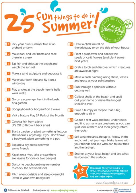 25 fun things to do in summer nature play sa play and go