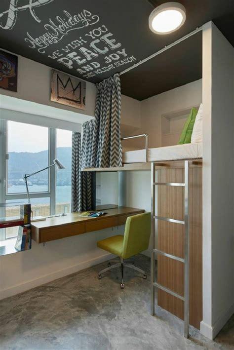 lit en hauteur avec bureau integre les atouts