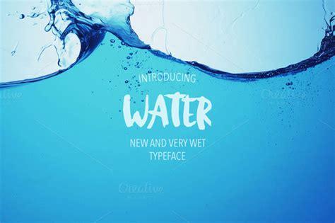 font design water water font