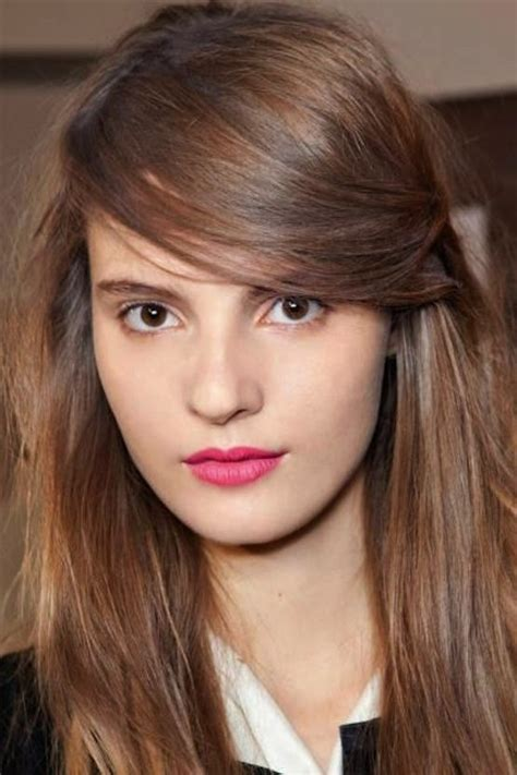 best way to part side swept bangs for oval faces 24 ways to go bang