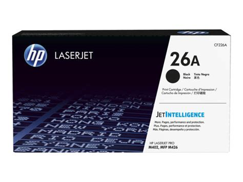 Toner Hp Laserjet Cf226a Black Original hp 26a black laserjet toner cartridge with jetintelligence cf226a ebuyer