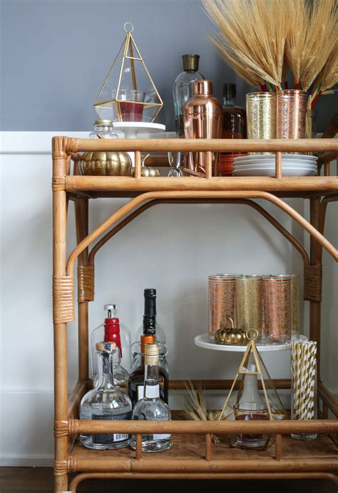 5 steps to a fall bar cart
