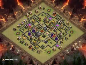 Th9 war base th9 clash of clans clan war base layout