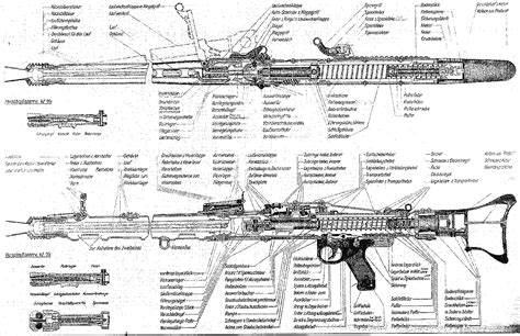 draw technical diagrams pistol blueprint pencil and in color pistol