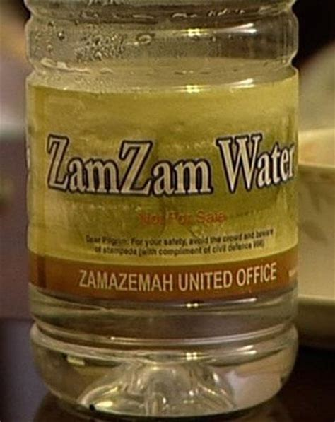 Sale Zam Zam Water poison in holy water from mecca illegal bottles on sale in contain arsenic
