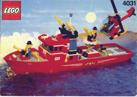 lego boat step by step town fire fighter boat 4031 lego instructions